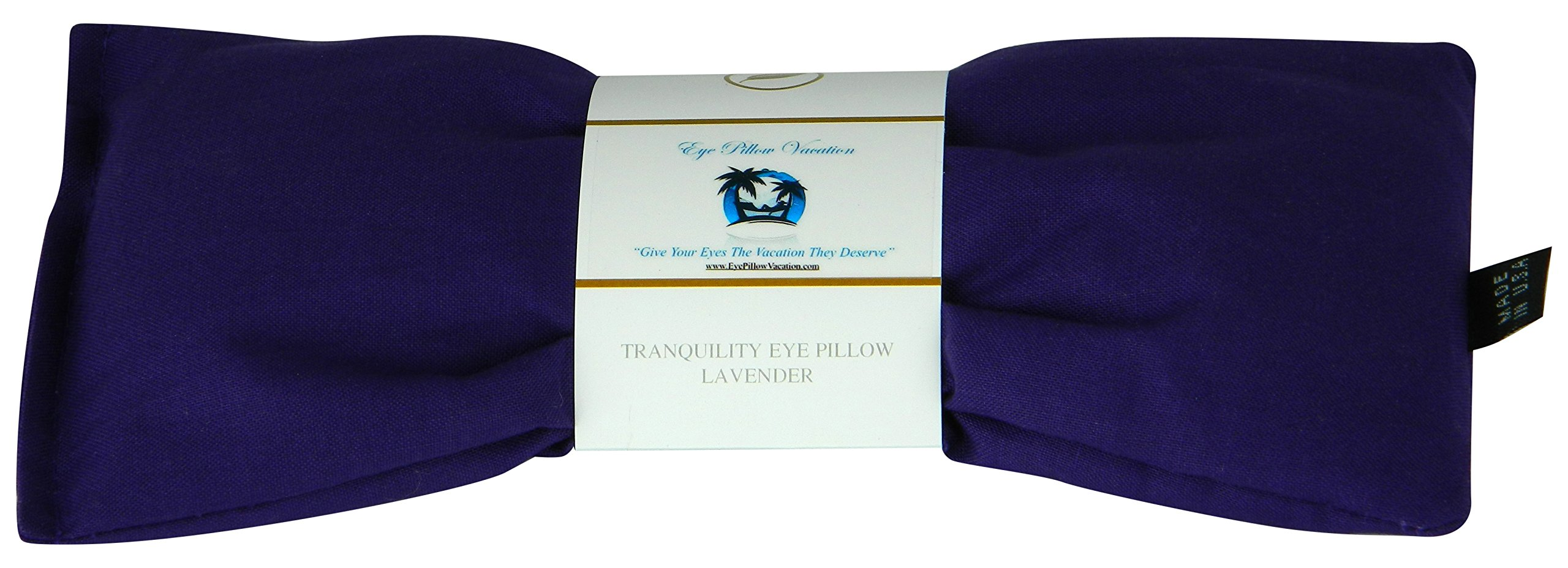 Lavender Eye Pillow - Migraine, Stress & Anxiety Relief - #1 Stress Relief Gifts For Women - Made In The USA, Organic Flax Seed Filled! ON SALE! (Purple - Organic Cotton)