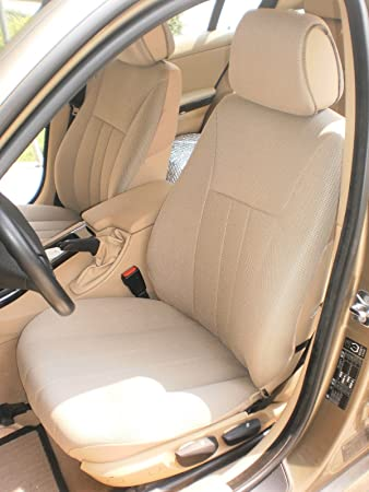 LUXURY BEIGE FAUX LEATHER SEAT COVER SET for BMW E60 5 SERIES 2003-2010