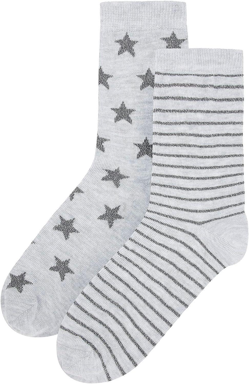 womens Accessorize 2pk Stars /& Stripe Ankle Socks Socks