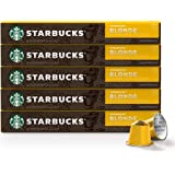 Starbucks by Nespresso, Blonde Roast Espresso (10 Count (Pack of 5) single serve capsules, compatible with Nespresso…