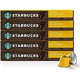 Starbucks by Nespresso, Blonde Roast Espresso (50-count single serve capsules, compatible with Nespresso Original Line…