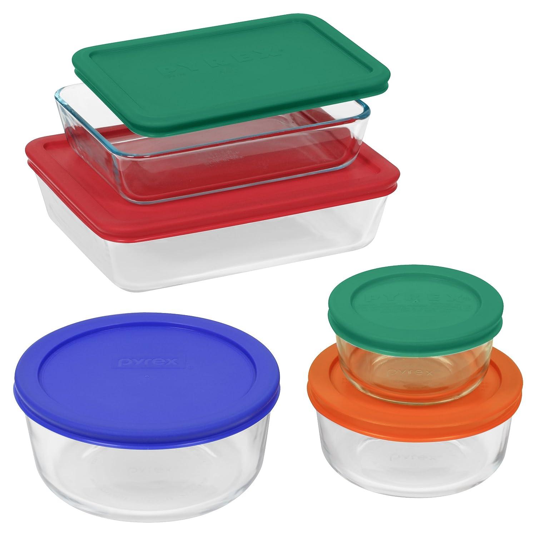 Amazoncom Pyrex Simply Store 10 Piece Glass Food Storage Set Bake