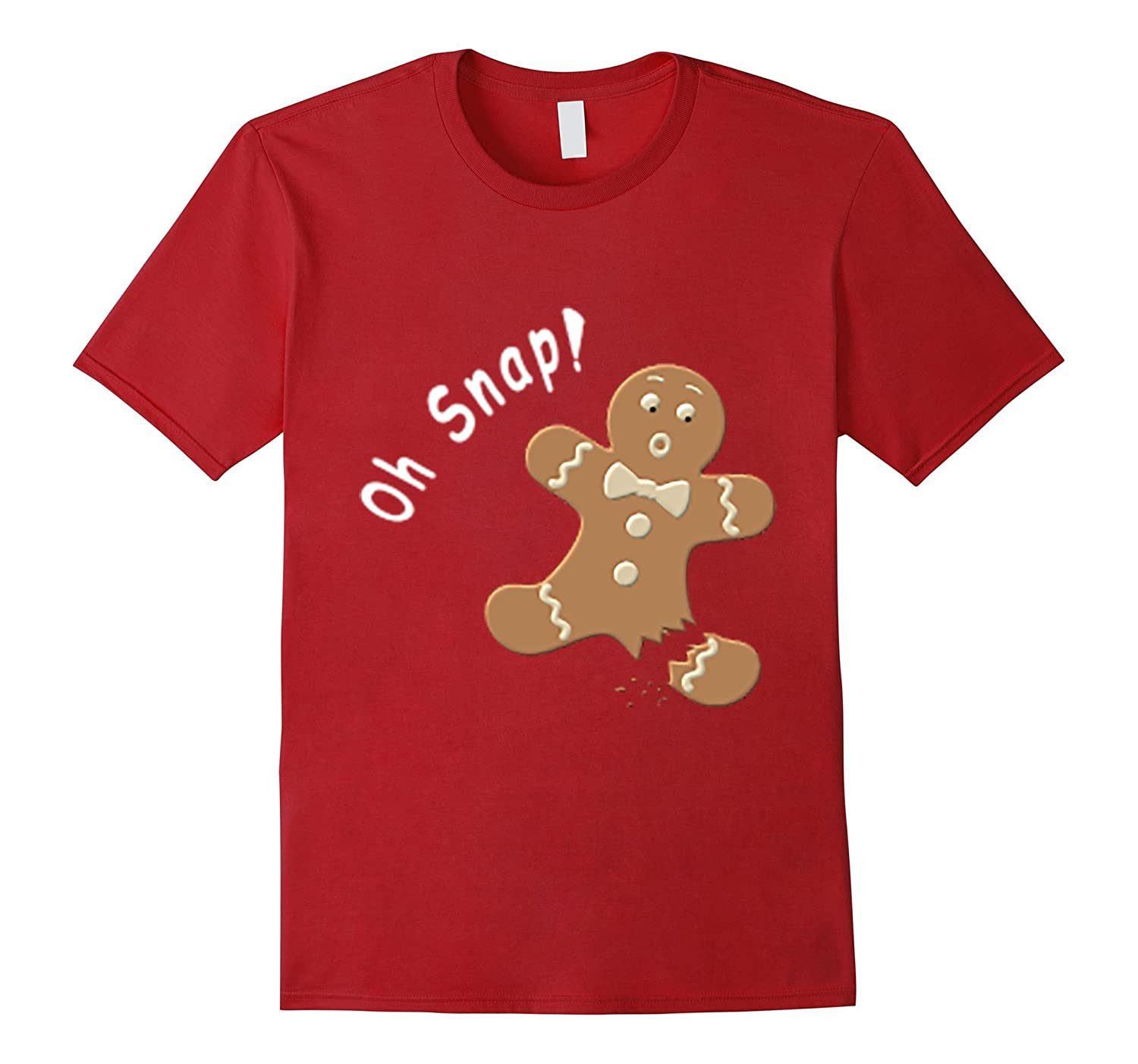 Funny Baking OH SNAP Holiday Gingerbread Man Cookie T-Shirt-Teehay