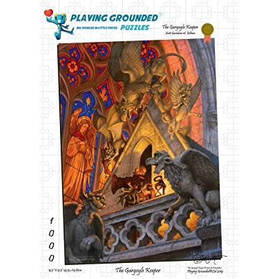Playing Grounded Limited Edition Jigsaw Puzzle 1000 Pieces The Gargoyle Keeper by Scott Gustafson Fantasy Jigsaw Puzzle: Toys & Games