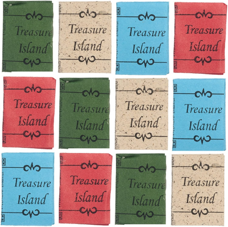 Melody Jane Dolls Houses Puppenhaus 12 Treasure Island B/ücher mit Seiten Studien Schule Zubeh/ör