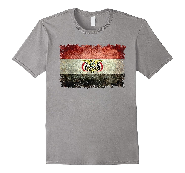 Yemen Vintage flag with emblem T-Shirt-TH