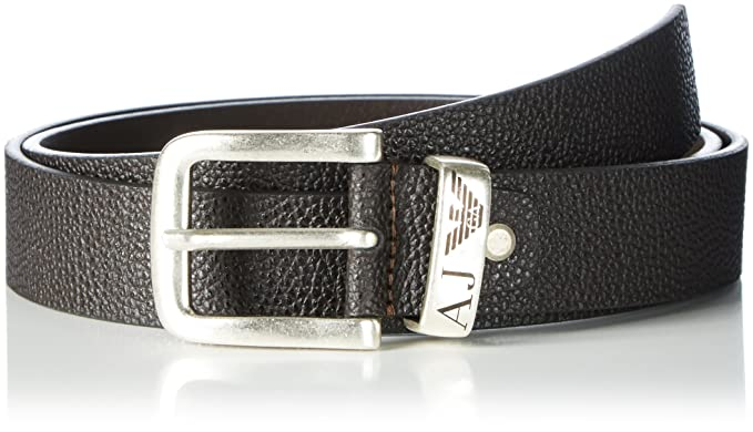 966db3be677d Armani Jeans Belt, Ceinture Homme, Rouge (Marrone 00152), 125 Fabricant