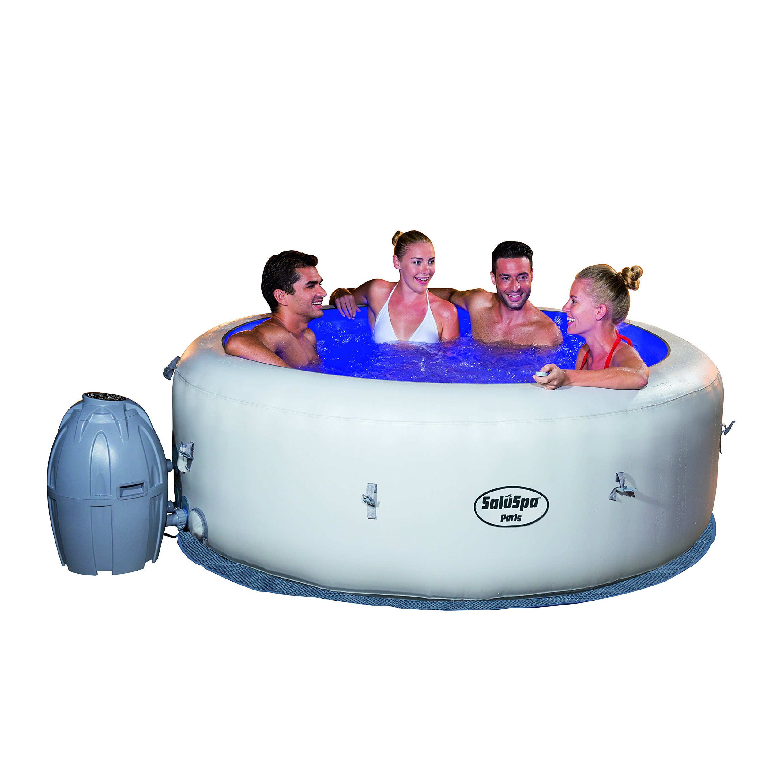 SaluSpa Paris AirJet Inflatable Hot Tub w/ LED Light Show by Bestway