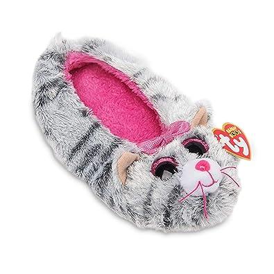 98dac5daa6b TY Beanie Boos Kids Girls Plush Kiki Cat Non Skid Slipper Socks