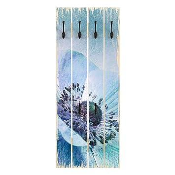 Bilderwelten Perchero de Madera - Blossom In Turquoise ...
