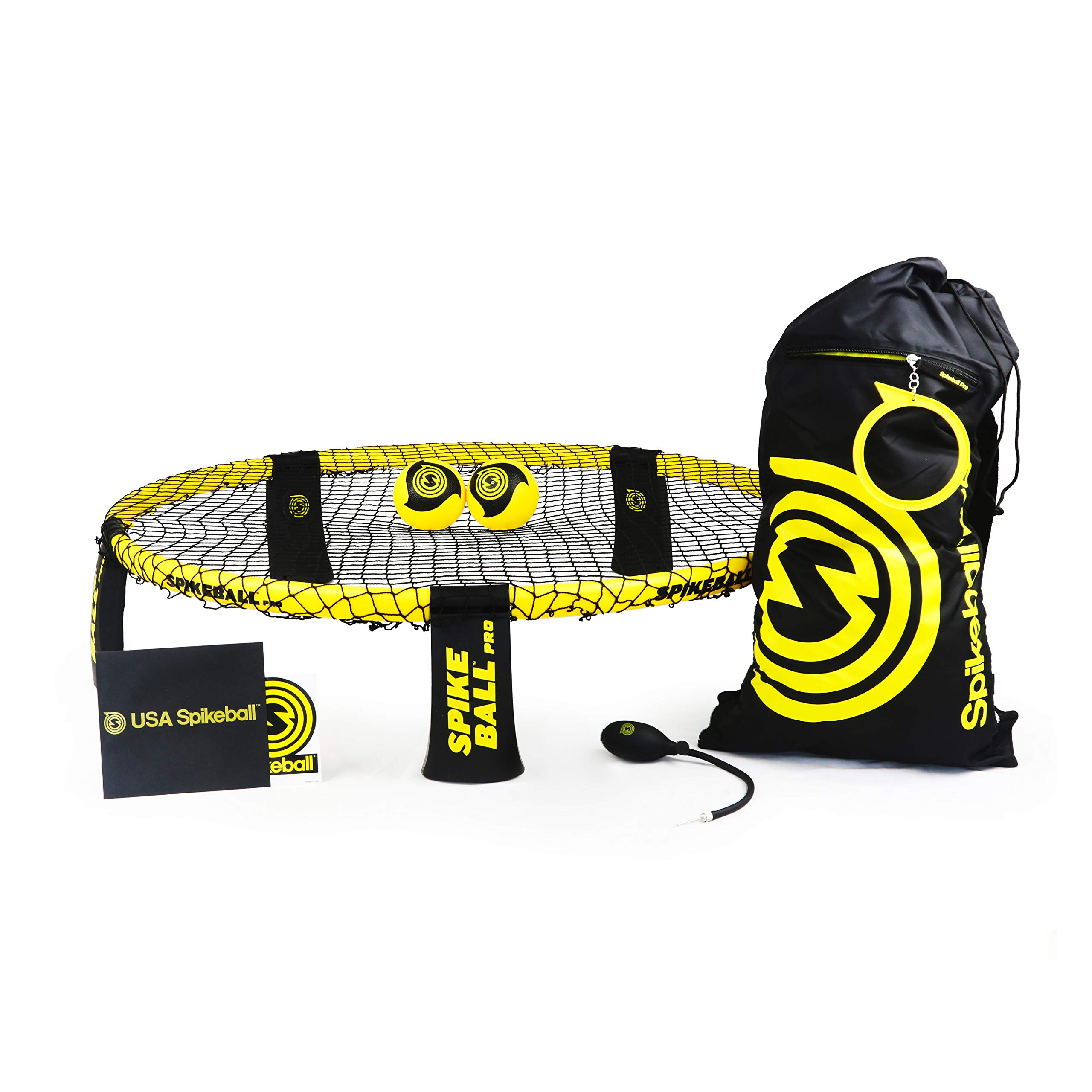 Spikeball Pro Kit (Tournament Edition) - Includes Upgraded Stronger Playing Net, New Balls Designed to Add Spin, Portable Ball Pump Gauge, Backpack - As Seen on Shark Tank TV by Spikeball