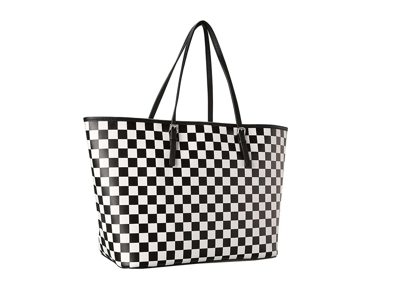 150f0e271add Michael Kors Jet Set Checkerboard Travel Tote  Handbags  Amazon.com