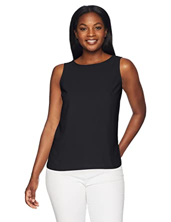 ba942ca4b0 Amazon.com  Lark   Ro Women s Sleeveless Layering Tank - Crew and V ...