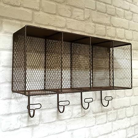 Metal Wall Coat Rack With Shelf