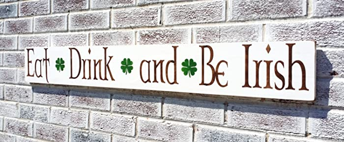 Attrayant Eat Drink U0026 Be Irish Sign, Irish Kitchen Art, Irish Pub, Irish Bar