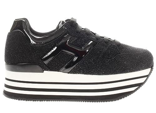 Scarpe Sneaker Hogan Shoes 10% H283 Italy Donna Nero HXW2830T548667B999