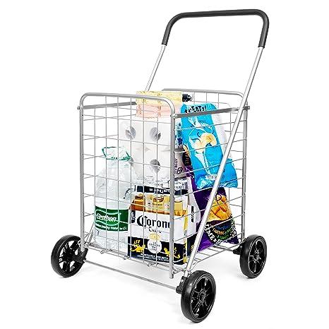 Amazon.com: Carrito de la compra plegable y resistente ...