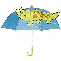 Playshoes Kinder Regenschirm Dinosaurier Paraguas para Niños