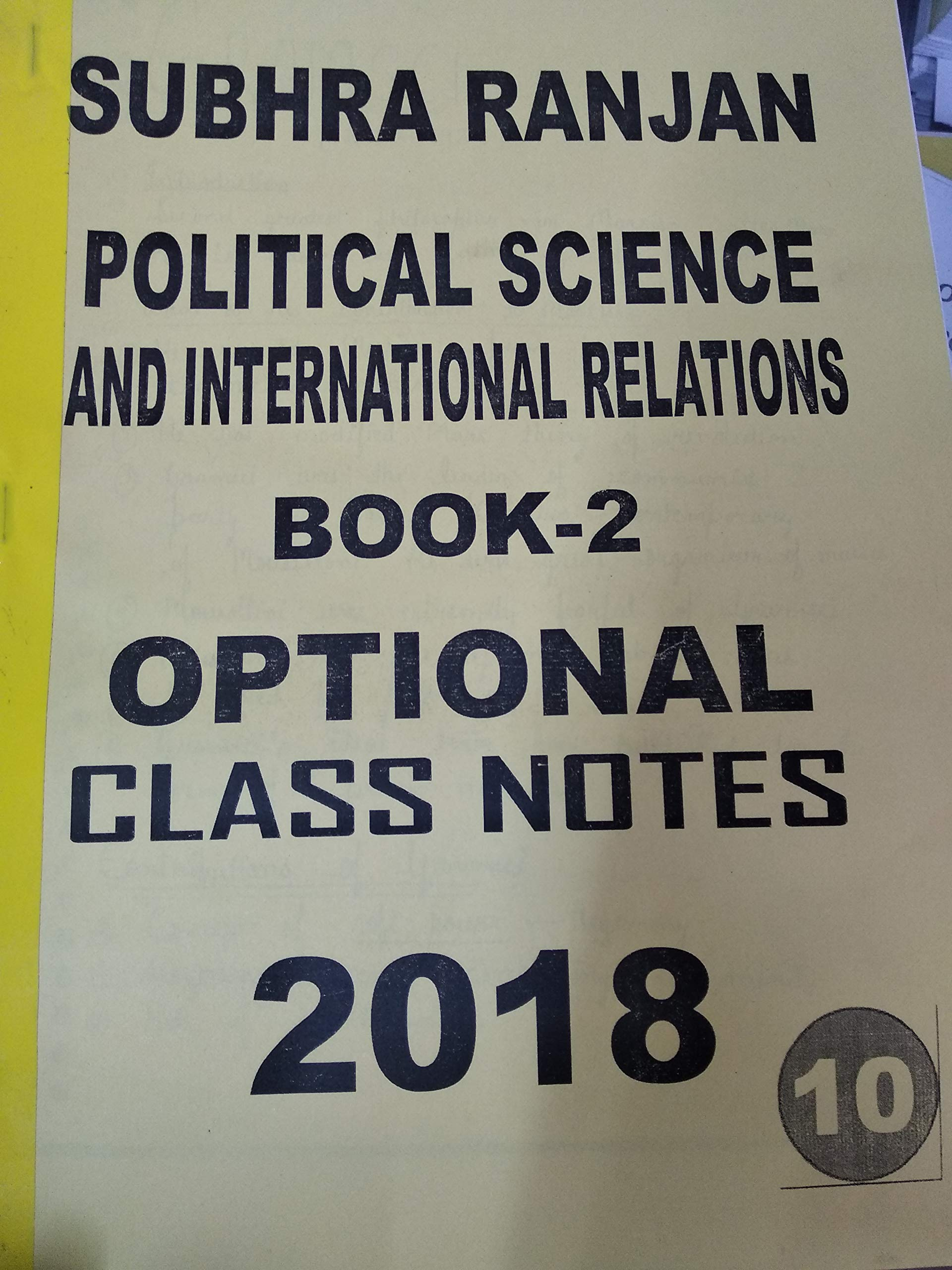 Amazon in: Buy Subhra ranjan mam political science notes 2018 Book