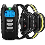 Flittor Dog Training Collar, Shock Collar for Dogs with Remote, 2 Receiver Rechargeable Dog Shock Collar, 3 Modes Beep Vibrat