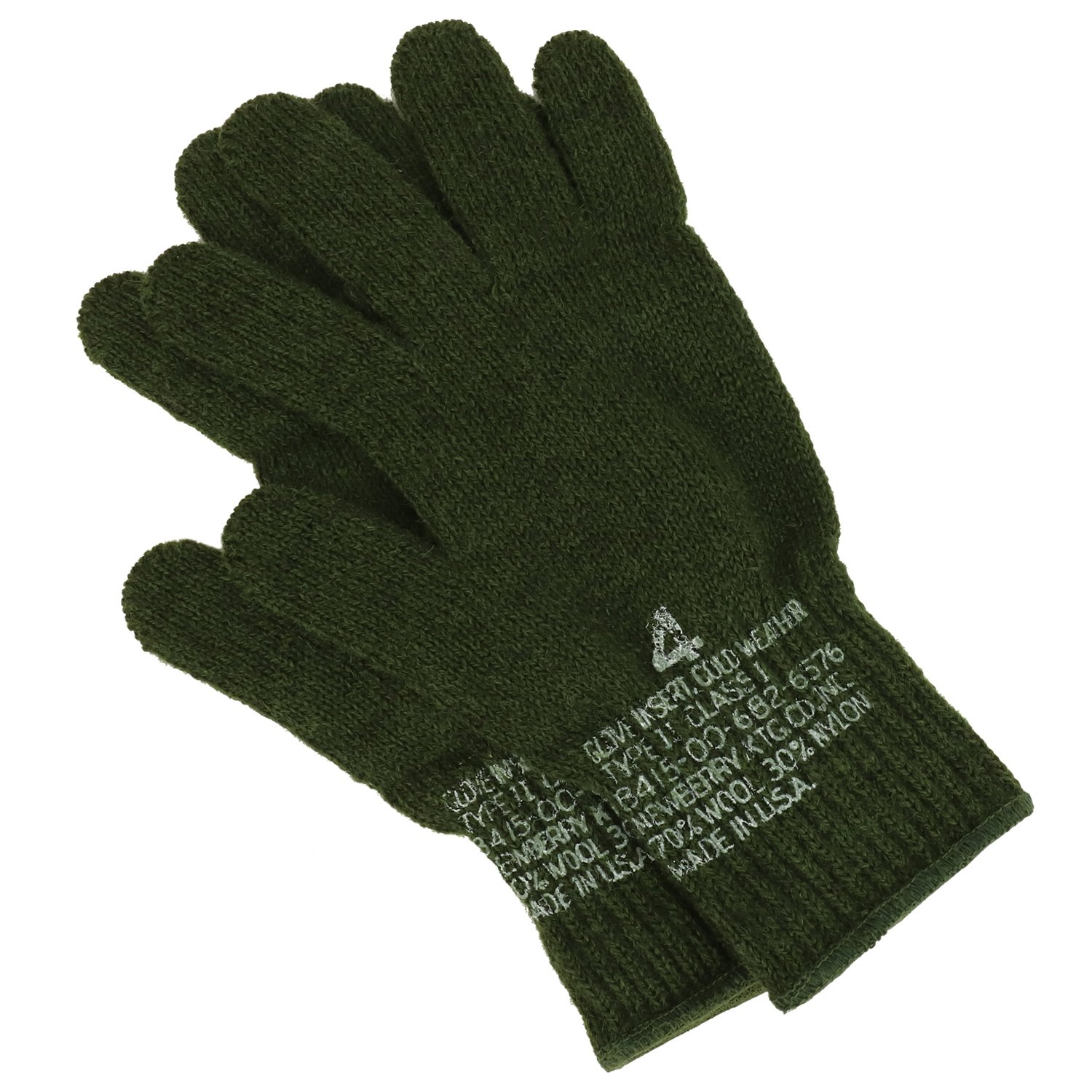 Armycrew Mens Goverment Issue Made in USA Wool Glove Liner