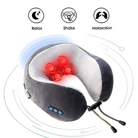 Amazon.com: Almohada eléctrica de viaje con forma de U para ...