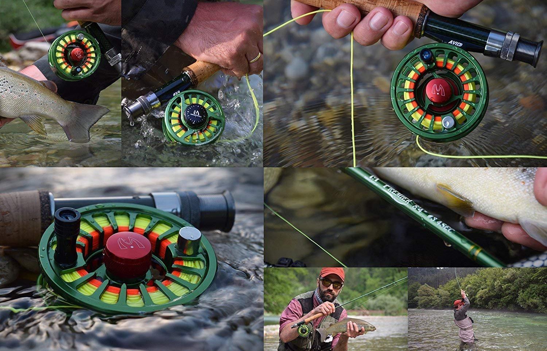 MAXIMUMCATCH Fliegenrolle Avid Serie Fliegenfischen Rollen gro/ßer Spulenkern in 1//3 7//8 9//10wt Geringes Gewicht 3//4 5//6 mit Schn/üre Combo 5 Farbe Wahl