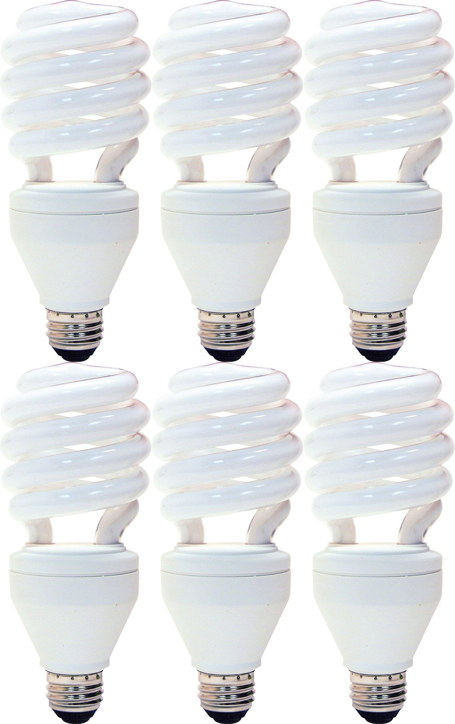 GE Energy Smart CFL 3-way 16/25/32-Watt; 600/1600/2150-Lumen, T3 Spiral Medium Base, 6-Pack