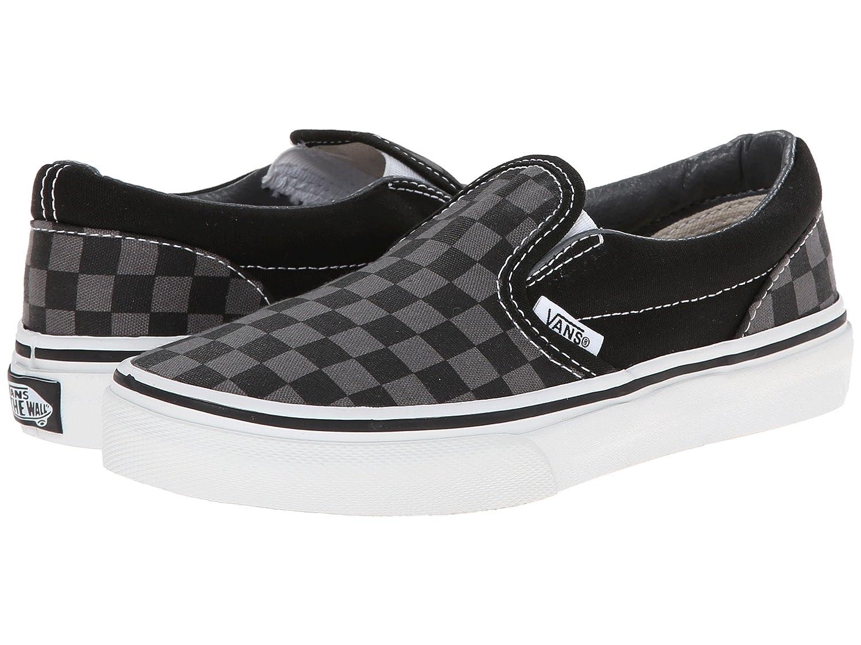 Vans Classic Slip-on B01M1108MB 5.5 B(M) US Women / 4 D(M) US Men|Black/Pewter Checkerboard