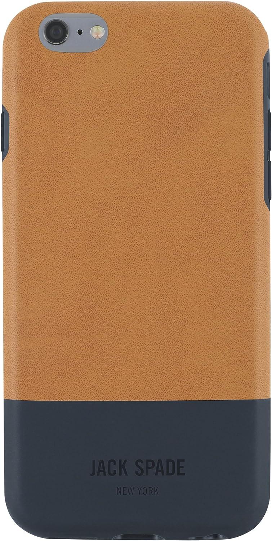 JACK SPADE iPhone 6s Plus Case [Shock Absorbing][Textured] Cover fits iPhone 6 Plus, iPhone 6s Plus - Fulton Tan/Navy