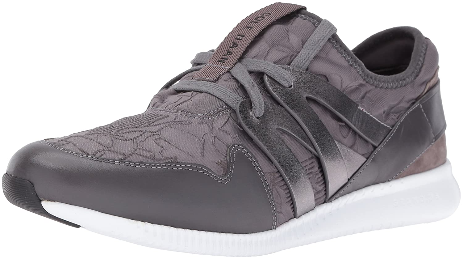 Cole Haan Women's 2.0 Studiogrand Trainer Fashion Sneaker B01ITEIZ6O 9.5 B(M) US|Pavement Embossed Floral Neoprene/Leather/Optic White