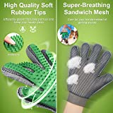 OMORC Pet Grooming Glove, Pet Hair Remover Massage