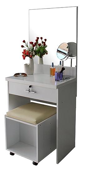 meuble coiffeuse avec miroir tiroir serrure cl