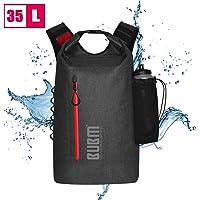 BUBM Dry Backpack, 35L Floating Waterproof Dry Bag Roll-top Dry Bag Backpack for Kayaking, Boating, Hiking, Camping, Fishing black