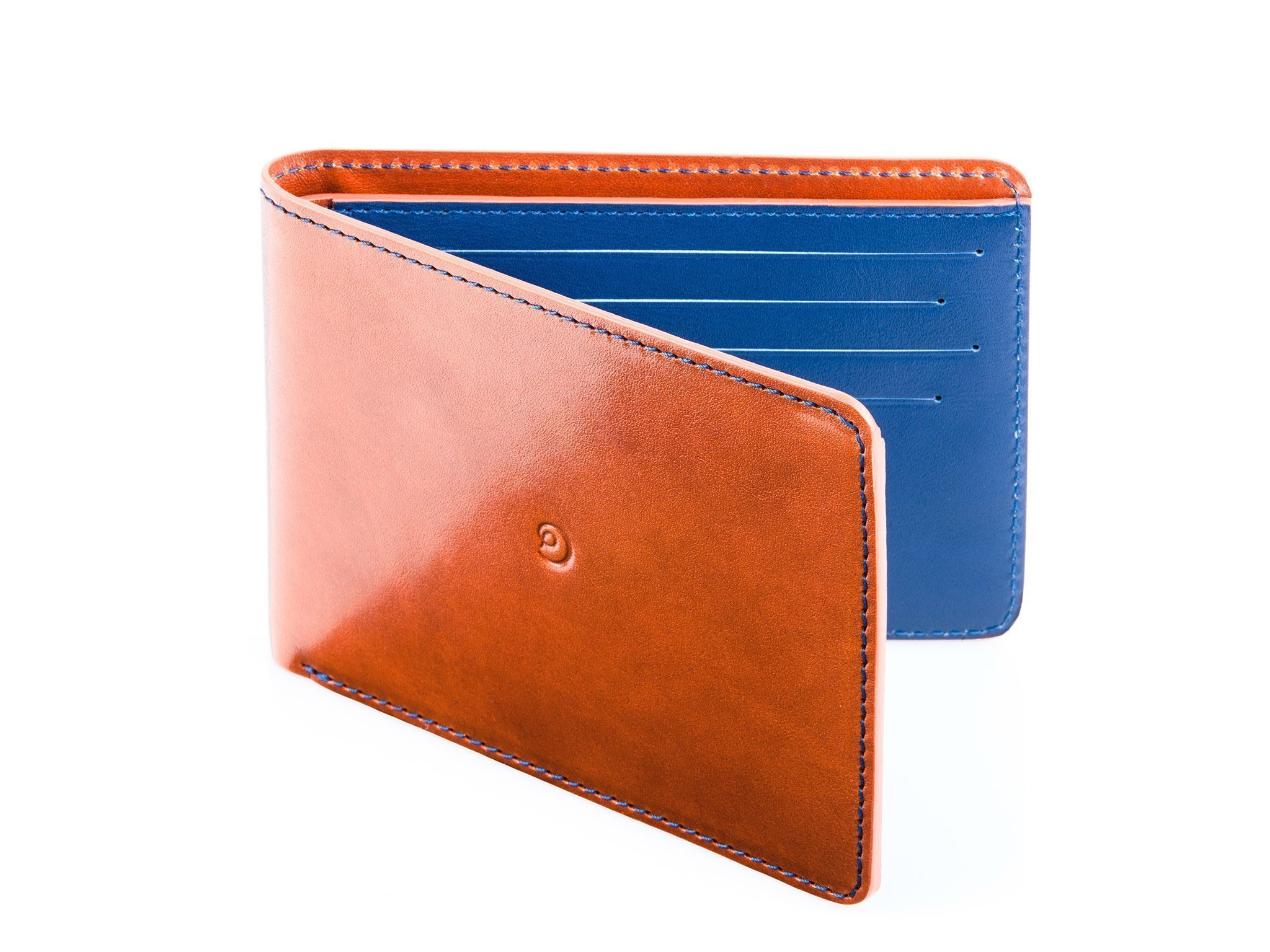 Slim Leather Wallet for Men by Danny P. (Brown) Handmade
