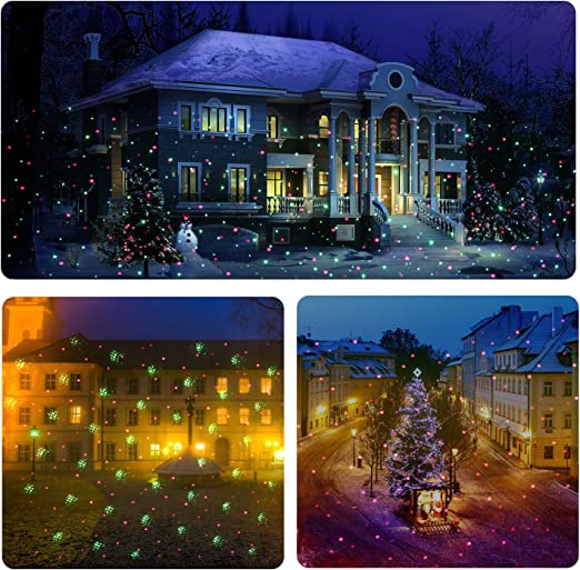 NG-RG130R-M1 NEXGADGET Outdoor Laser Light Projector Waterproof Aluminum Red and Green Garden Laser Light with Radar Wireless Remote Control for Holiday Party Wedding Landscape Decoration 1 Pack