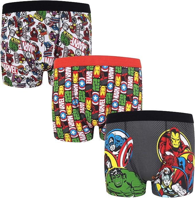 Marvel - Pack de 3 Calzoncillos Oficiales de Estilo bóxer - para ...
