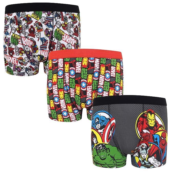 57ce816f87568 Marvel - Pack de 3 calzoncillos oficiales de estilo bóxer - Para niños -  «Los vengadores»