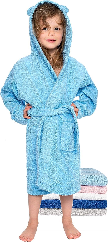 Twinzen Kinder Bademantel Junge und M/ädchen Bademantel 100/% Baumwolle Badewannenauslauf Saugf/ähig Zertifiziert ohne Chemikalien