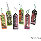 Fun Express Halloween Party Costume Contest Award Prize Ribbons - 12 Pieces