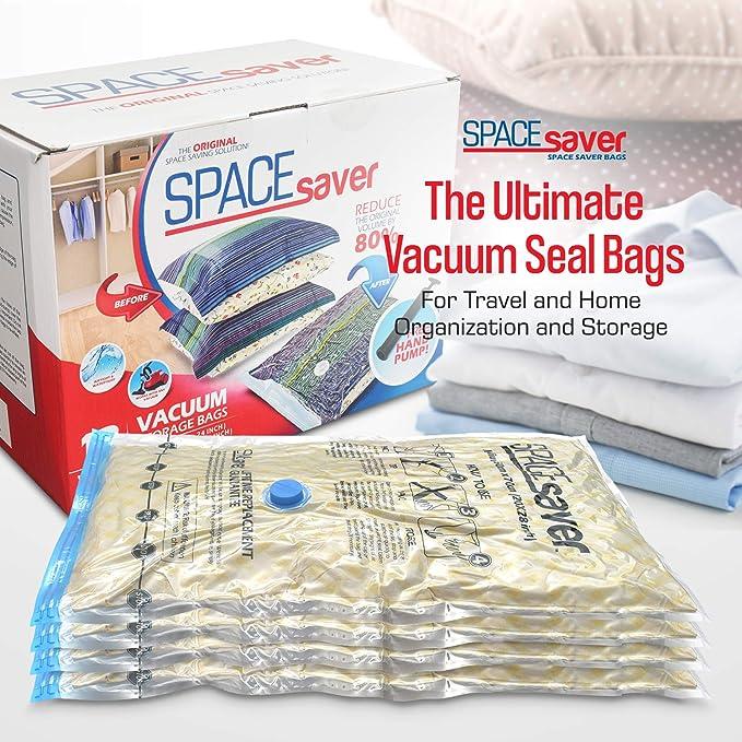 2 x LARGE SPACE SAVING VACUUM STORAGE BAGS CLOTHES VACUM BEDDING 100 X 130CM