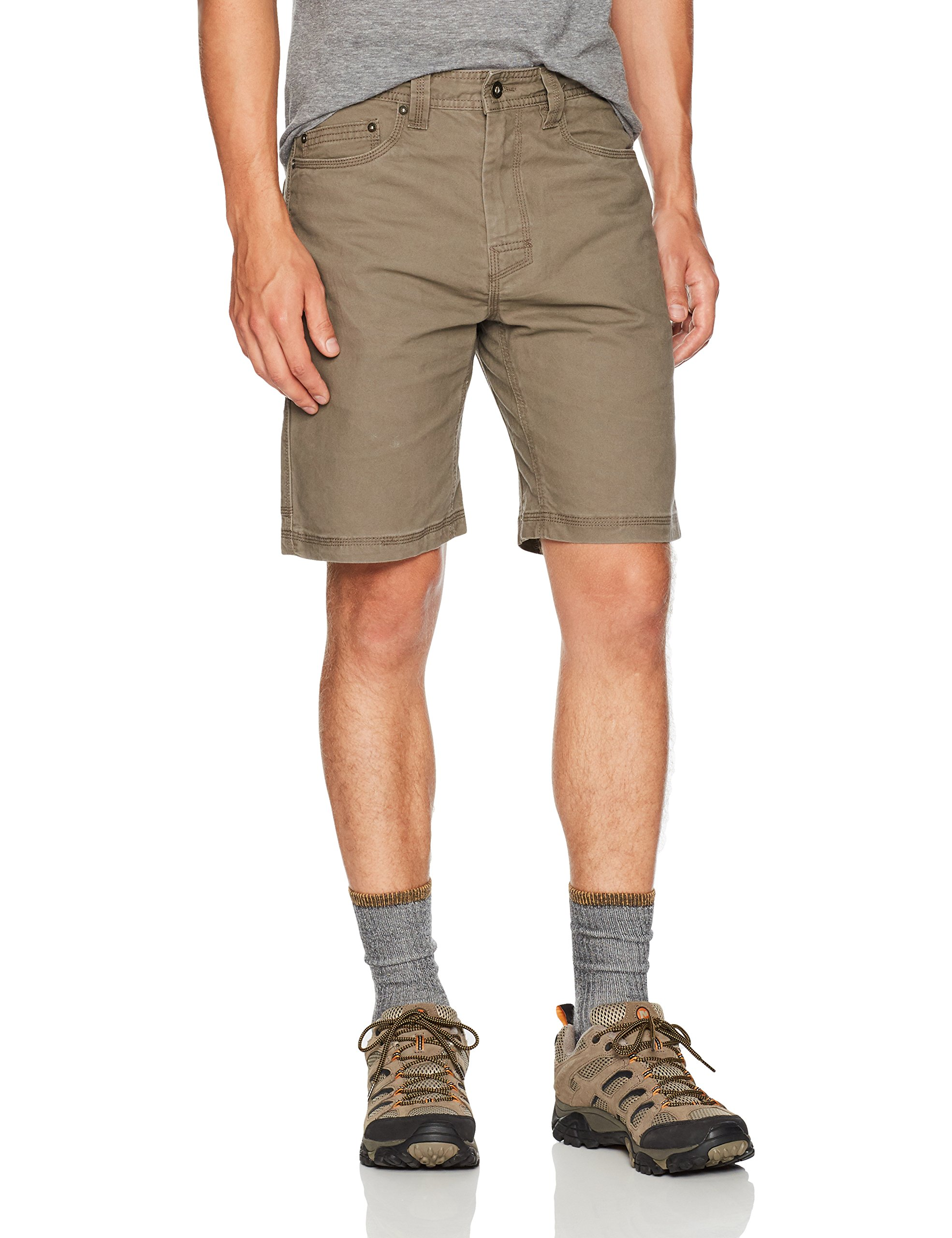 prAna Living Men's Bronson 9-Inch Inseam Shorts, Mud, 32