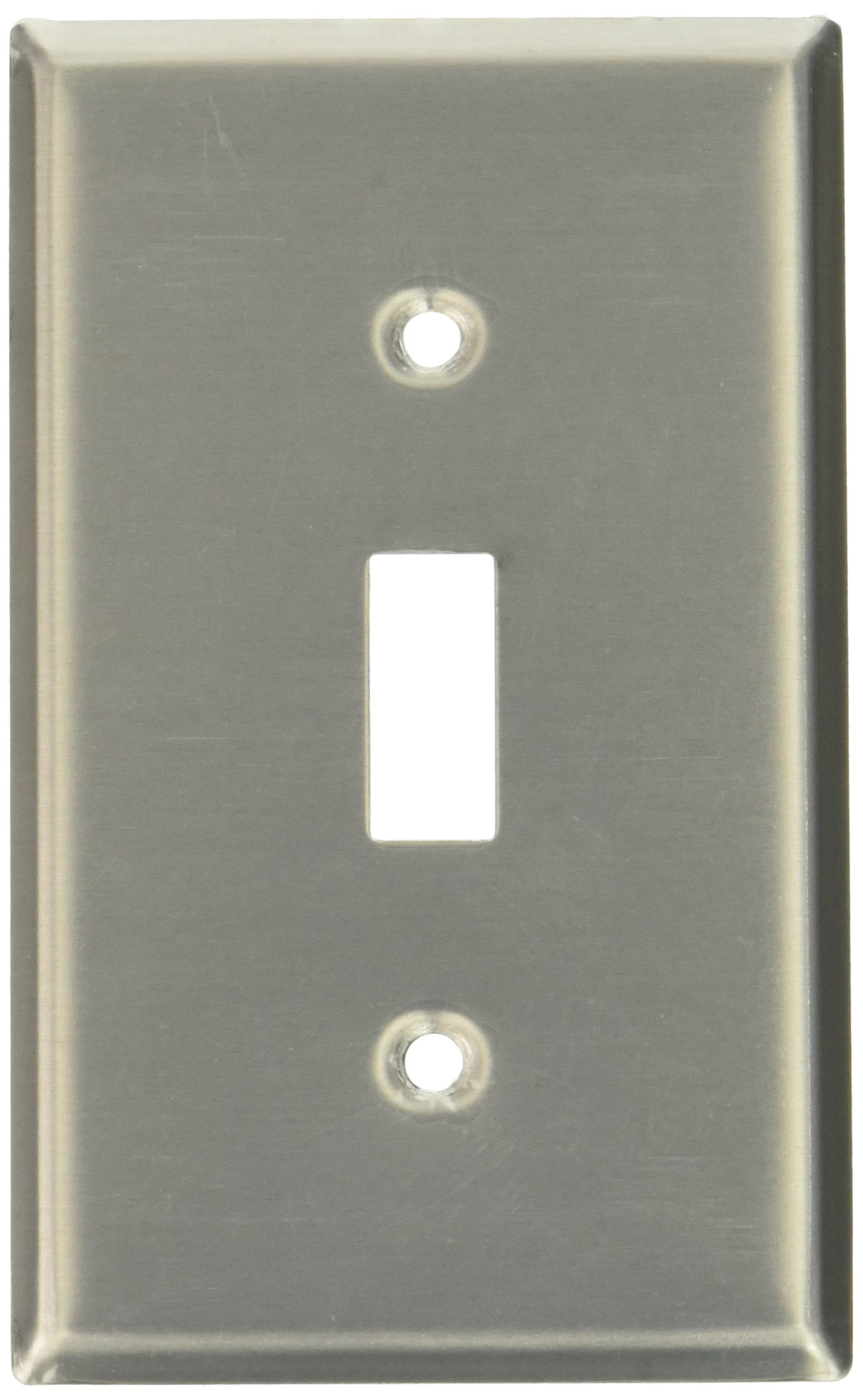 Leviton 83001 1-Gang Toggle Device Switch Wallplate, Standard Size, Device Mount, Aluminum, 20-Pack