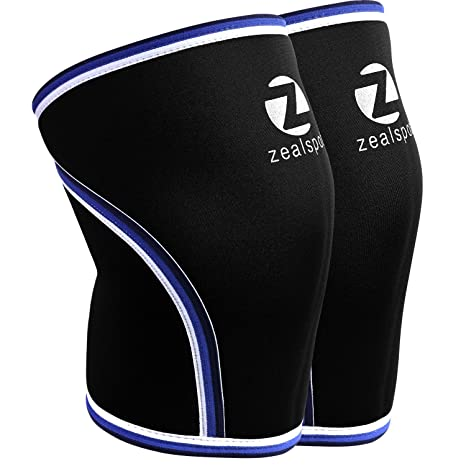 177feca488 Z ZEALSPOT Knee Sleeves(1 Pair) Compression & Support for Weightlifting,  WOD, Squats, Gym, Powerlifting & Crossfit-7mm Neoprene Knee Brace-Both Women  & Men ...