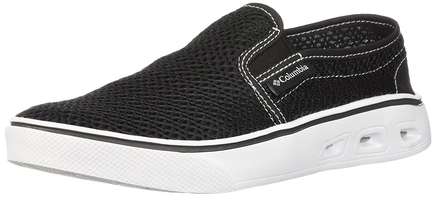 Columbia Women's Spinner Vent Moc Water Shoe B073WGMB6W 5.5 B(M) US|Black, White
