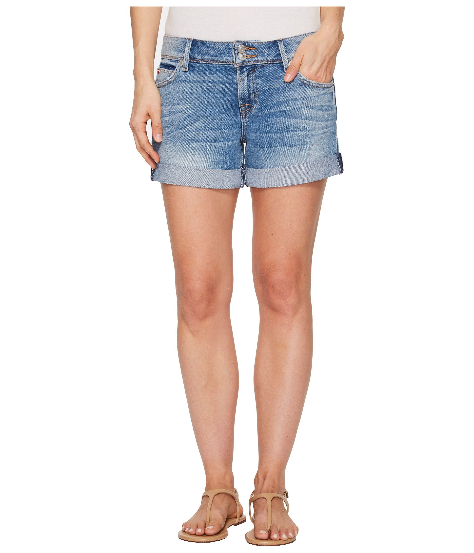 Hudson Jeans Women's Croxley Mid Thigh Flap Pocket Short, Rolling Hills, 31