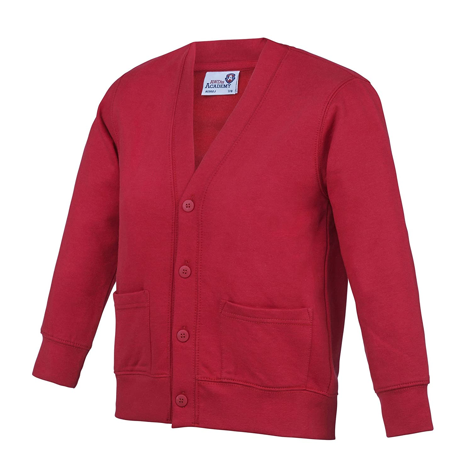 AWDis Academy Childrens/Kids Button Up School Cardigan