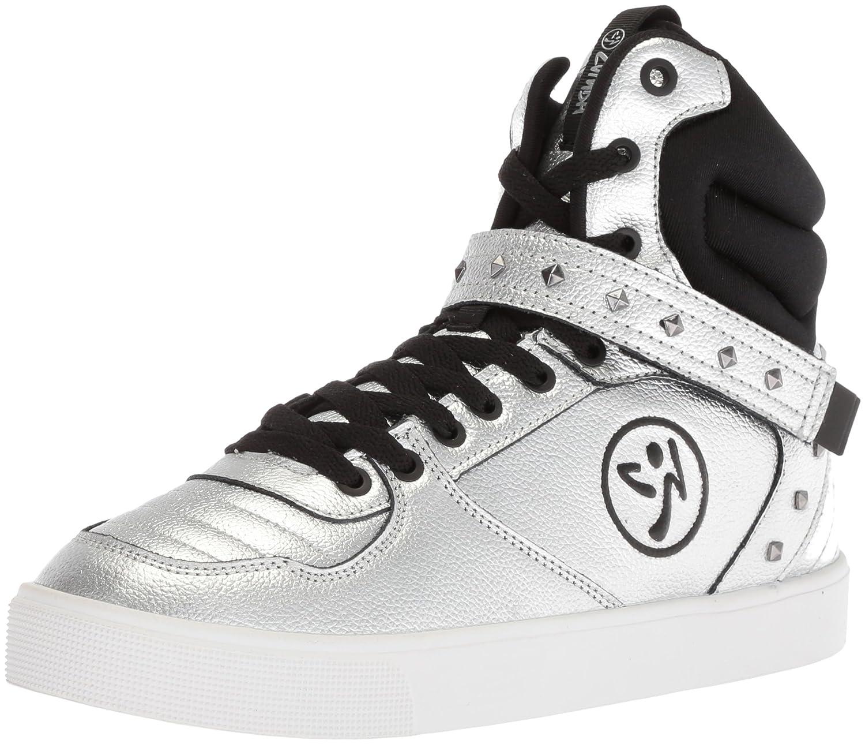 Zumba Women's Street Fashion High Top Dance Workout Sneakers B078WFR3YY 8 B(M) US|Silver