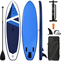 Stand Up Paddle Board Inflatable SUP 10.6' x 32''x 6'' with Premium Paddleboard & Bi Action Speed Pump & Portable…