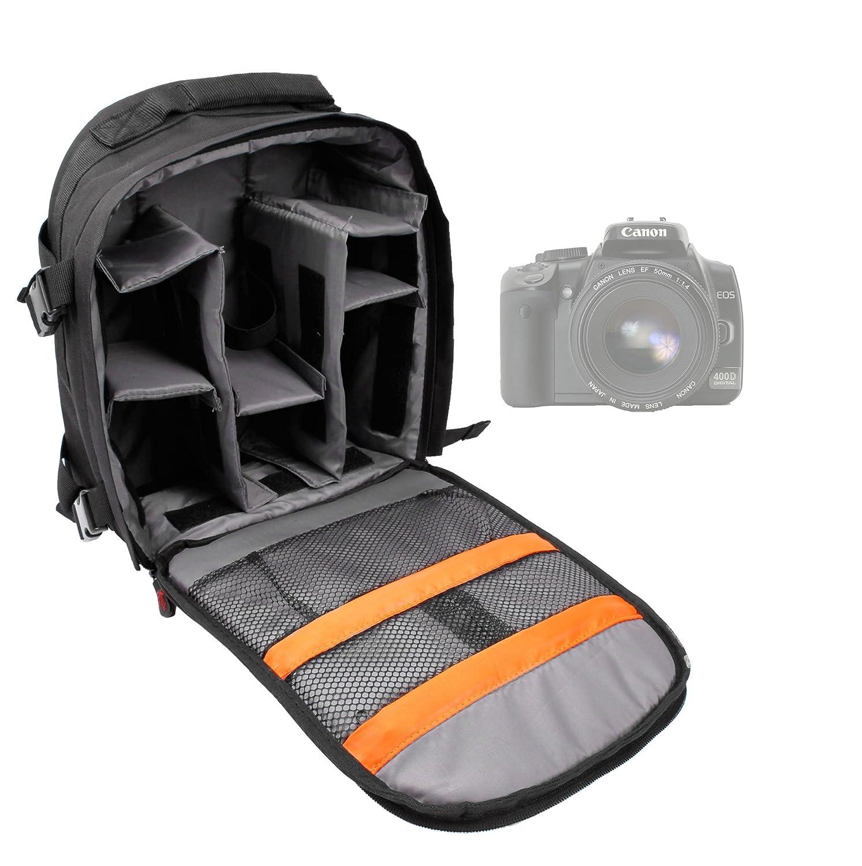 Sac en toile beige é paisse pour appareils photos SLR / reflex et accessoires Canon EOS 650D, 700D, 1100D, 1200D, 1300D, Canon Legria Mini et Mini X, HF R66 & R46 camé scopes - modulable pour vos accessoires DURAGADGET